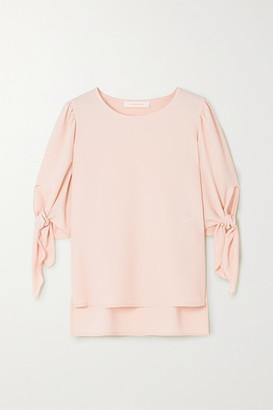 See by Chloe Tie-detailed Crepe Blouse - Pastel pink
