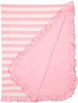 Kickee Pants Print Ruffle Stroller Blanket - Lotus Stripe