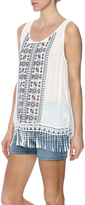 Entro Fringe Detail Sleeveless Top