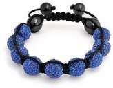 Bling Jewelry Shamballa Inspired Bracelet Simulated Sapphire Crystal Alloy
