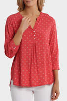 Jump NEW 3/4 Sleeve Ditsy Shirt Red