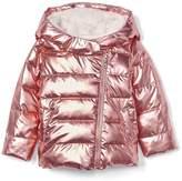 Gap Cozy rose gold puffer jacket