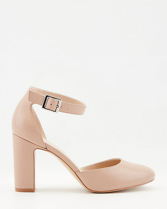 Le Château Leather Almond Toe Ankle Strap Pump
