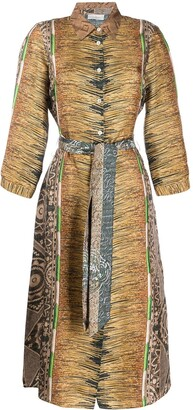 Pierre Louis Mascia Aloeuw mixed-print silk dress