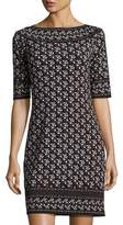Max Studio Floral-Print Boat-Neck Dress