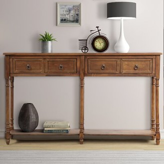 Rosalind Wheeler Rennick 11'' Solid Wood Console Table