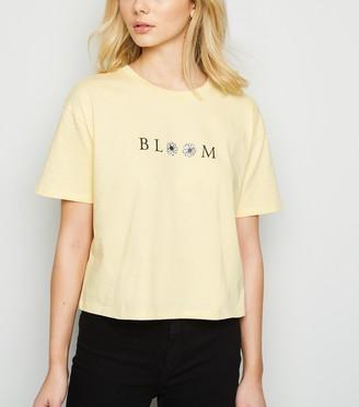 New Look Floral Bloom Boxy Slogan T-Shirt