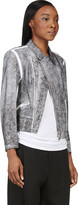 3.1 Phillip Lim Black Cracked Paint Lambskin Biker Jacket
