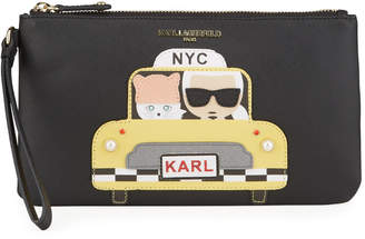 Karl Lagerfeld Paris and Choupette Wristlet Bag