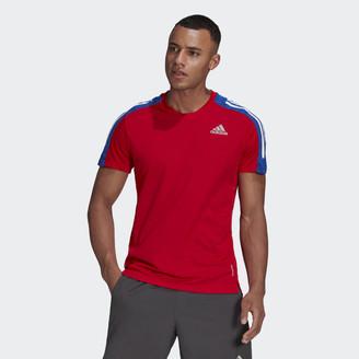 adidas Own The Run 3-Stripes Running Tee
