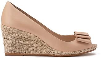 Cosmo Paris Mayana Leather Wedge Heels