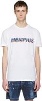 DSQUARED2 White memphis T-shirt
