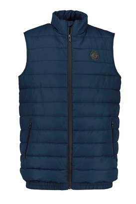 JP 1880 Men's Big & Tall Belly Quilted Vest Navy XXXXXX-Large 723306 76-6XL