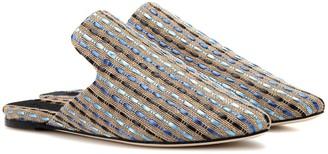 Sanayi 313 Hippolyta canvas and raffia slippers