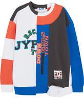 Sjyp Patchwork Printed Cotton-terry Sweatshirt