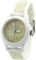 Toy Watch Women's Quartz Polycarbonate and Silicone/Swarowski, Color: (Model: GL01WH)