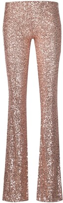 Alchemy Sequin-Embellished Flared Trousers