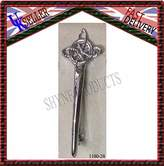 SHYNE_ENTERPRISES Highland Scottish Kilt Pins In Chrome Finish/Brooch Celtic Kilt Pin New