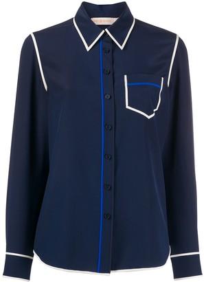 Tory Burch Contrast Seam Shirt