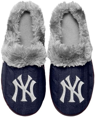 Women's New York Yankees Cable Knit Slide Slippers