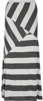 Striped stretch-jersey maxi skirt
