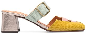 Chie Mihara Buckle-Fastening Leather Mules