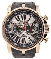 Roger Dubuis Excalibur EX45785000 18K Rose Gold & Leather Automatic 45mm Mens Watch