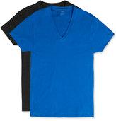 2xist Men's Cotton Stretch Short-Sleeve V-Neck Tagless T-Shirt 2-Pack