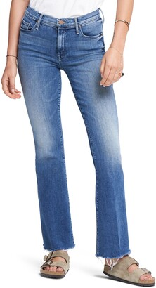 Mother Fray Hem Bootcut Jeans