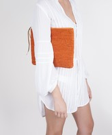 Vix Paula Hermanny Vix Orange Clutch