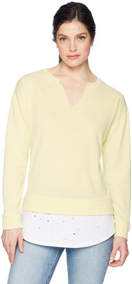 Democracy Women's L/S 2FER W V Notch
