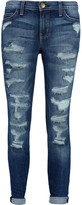 Current/Elliott The Stiletto low-rise distressed skinny jeans