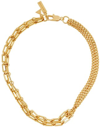 Coup De Coeur London Gold Mixed Chain Necklace