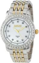 August Steiner Women's AS8045TTG Diamond and Crystal Swiss Quartz Bracelet Watch