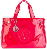 Armani Jeans logo embossed tote - women - PVC - One Size