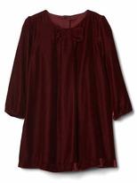 Gap Bow velvet shirt dress
