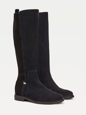 Tommy Hilfiger Essential Suede Flat Long Boots
