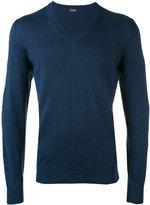 Drumohr - V-neck jumper - men - Linen/Flax/Polyamide - 54