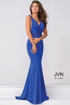 Jovani V Neck Jersey open back Prom Dress JVN41678