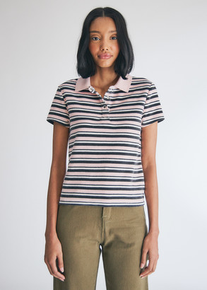 Vans Women's Sandy Liang Polo Shirt in Lotus, Size Extra Small