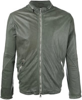 Giorgio Brato zip up jacket - men - Cotton/Leather/Nylon - 54
