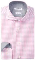 Isaac Mizrahi Long Sleeve Slim Fit Check Dress Shirt