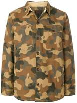 Barbour camouflage button through overshirt