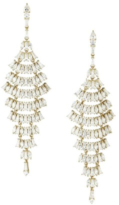 Adriana Orsini 18K Goldplated & Cubic Zirconia Layered Chandelier Earrings