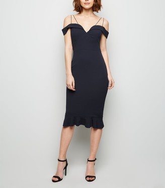 New Look AX Paris Off the Shoulder Fishtail Dress