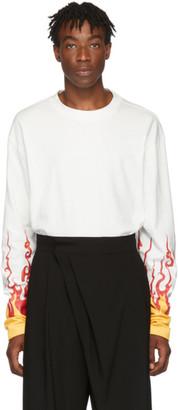 D.gnak By Kang.d White Flame Printed T-Shirt