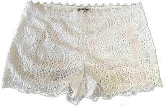 Charo Ruiz Ibiza White Cotton Shorts