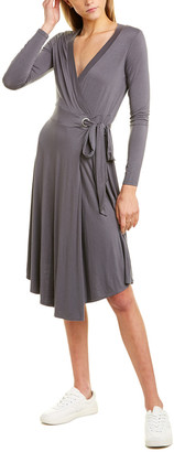 Three Dots Tie-Waist Faux Wrap Dress
