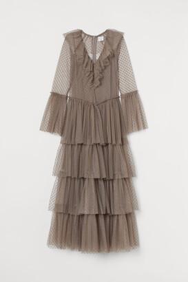 H&M Long Tulle Dress - Brown