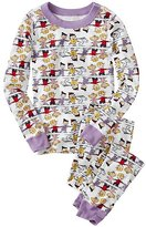 Kids Peanuts Long John Pajamas In Organic Cotton
